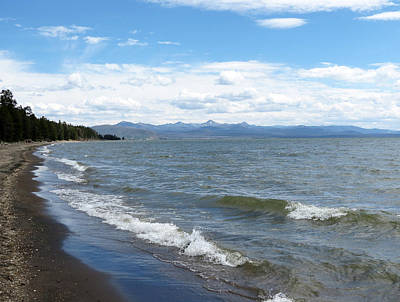 Photograph - Yellowstone Lake by Laurel Powell