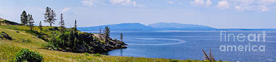 Photograph - Yellowstone Lake Pano by Jennifer White