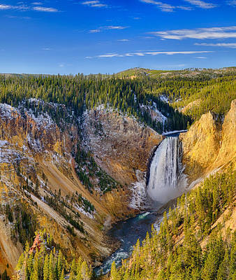 Photograph - Yellowstone Lookout Point Center Panel by Greg Norrell