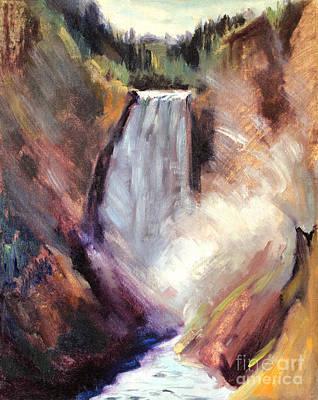 Yellowstone Lower Falls - 1939 Art Print