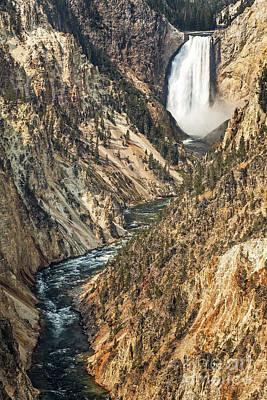 Target Project 62 Abstract - Yellowstone Lower Falls Waterfall by Bryan Mullennix