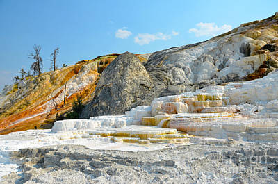 Photograph - Yellowstone Mammoth Hot Springs Colorful Palette Spring by Debra Thompson