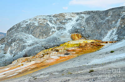 Photograph - Yellowstone Mammoth Hot Springs Trail Spring by Debra Thompson