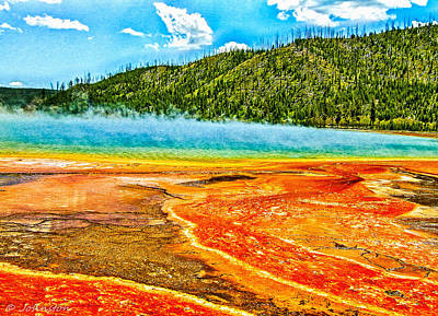 Digital Art - Yellowstone National Park  by Bob and Nadine Johnston