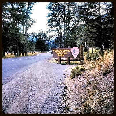 Truck Photograph - Yellowstone National Park Circa 1970 by JAMART Photography