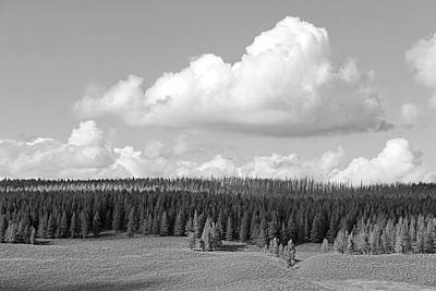 Photograph - Yellowstone National Park Scenic View Black And White by Jennie Marie Schell