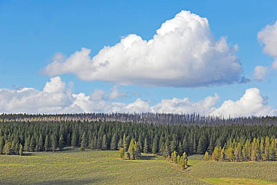 Photograph - Yellowstone National Park Scenic View by Jennie Marie Schell