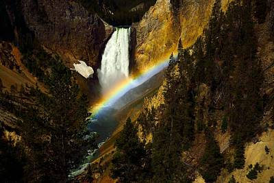 Photograph - Lower Falls Yellowstone River by Walt Sterneman