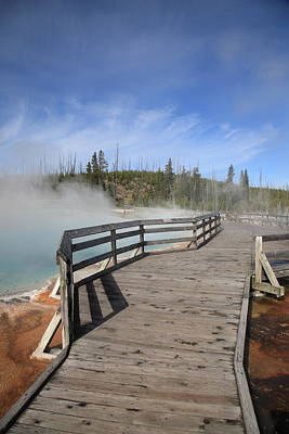 Photograph - Yellowstone Park - West Thumb Geyser Basin by Frank Romeo