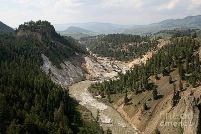 Photograph - Yellowstone River by E B Schmidt