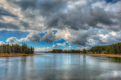 Photograph - Yellowstone River In Yellowstone National Park Wyoming by Brenda Jacobs