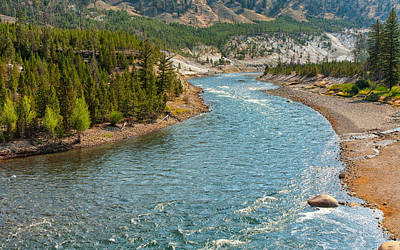 Photograph - Yellowstone River Journey by John M Bailey