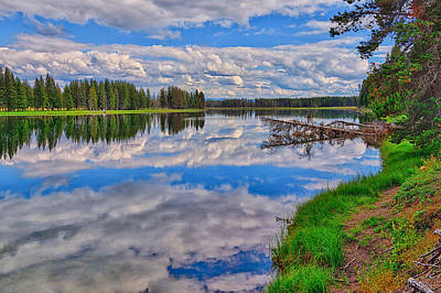 Photograph - Yellowstone River Reflections by Greg Norrell
