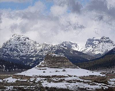 Yellowstone Digital Art - Yellowstone Soda Butte And The Absarokas by Silver Wolf Trading Post