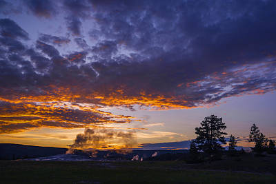 Photograph - Yellowstone Sunset by Vishwanath Bhat