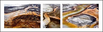 Yellowstone Triptych Art Print by Geraldine Alexander