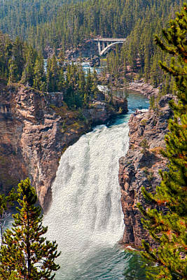 Photograph - Yellowstone Upper Falls by John M Bailey