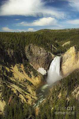 Photograph - Yellowstone Waterfall by Sonya Lang