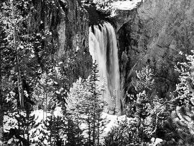 Photograph - Yellowstone Waterfall by Tarey Potter