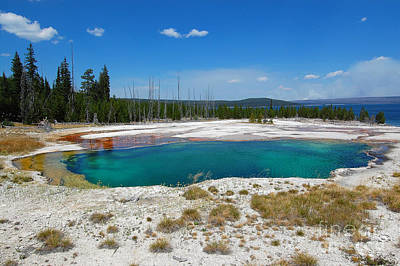 Photograph - Yellowstone West Thumb Abyss Pool by Debra Thompson