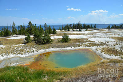 Photograph - Yellowstone West Thumb Geyser Basin by Debra Thompson