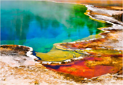 Photograph - Yellowstone West Thumb Geyser by Ginger Wakem