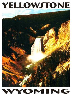 Painting - Yellowstone Wyoming - Landscape Poster by Art America Gallery Peter Potter