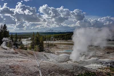 Print featuring the photograph Yellowstone's Norris Geyser Basin by Bill Gabbert