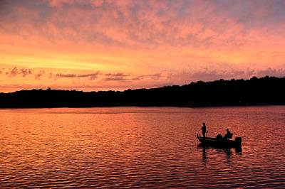 Photograph - Fishermen On Sweetwater Lake by Walt Sterneman