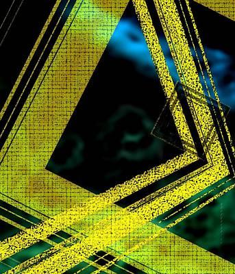 Yelow And Blue Digital Art Print by Mario Perez