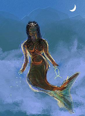 Orishas Digital Art - Yemanja by Amnon Mintz