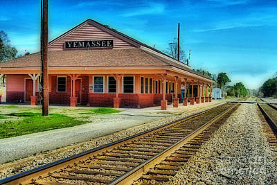 Yemassee Train Station Art Print by Skip Willits