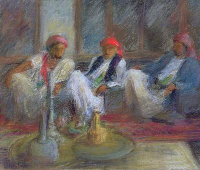 Yemen Photograph - Yemenis, 1999 Pastel On Paper by Karen Armitage
