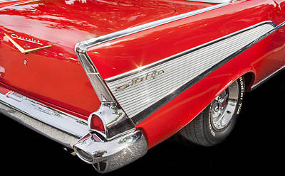 Photograph - Yep Its Red 1957 Chevy Bel Air by Rich Franco
