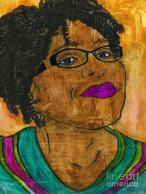 Mixed Media - Yep She's Up To Something by Angela L Walker