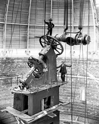 Assemblage Photograph - Yerkes 40-inch Refractor Telescope by Yerkes Observatory, University Of Chicago, Courtesy Emilio Segre Visual Archives/american Institute Of Physics