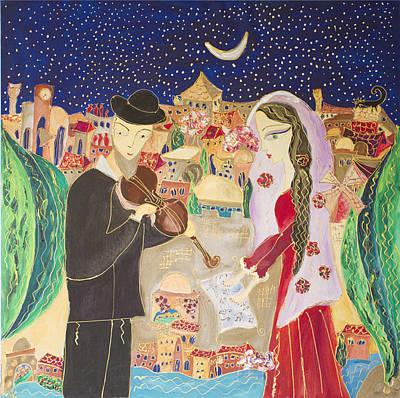 Yerushalaim... Within My Heart I Shall Treasure Your Song And Sight. Original by Anna Mansohn