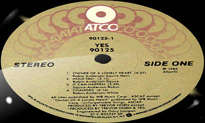 Christmas Trees - Yes 90125 Side 1 by Marcello Cicchini
