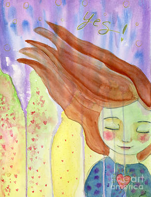 Painting - Yes by AnaLisa Rutstein