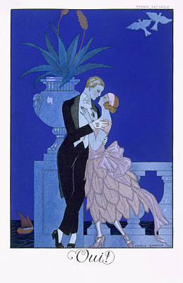 Evening Dress Painting - Yes by Georges Barbier
