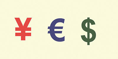 Digital Art - Yes Money Minimalist Poster by Celestial Images