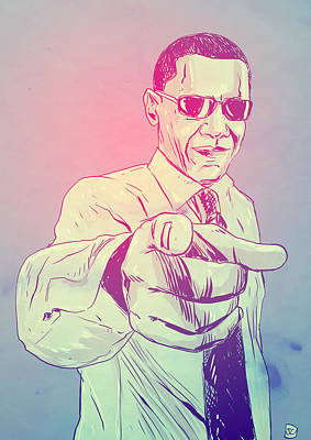 Barack Obama Drawing - Yes You Can by Giuseppe Cristiano