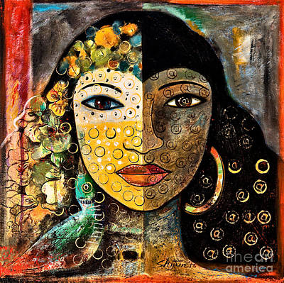 African Woman Painting - Yesterday And Today by Shijun Munns