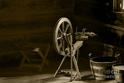 Old Time Spool Photograph - Yesterday by Elvis Vaughn