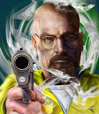 Yesterday Is Gone And Walter White Is Breaking Bad  Print by Reggie Duffie