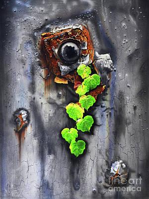 Rust Painting - Yesterday - Now by Jurek Zamoyski