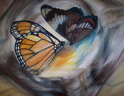 Painting - Yesterday's Butterflies by Chris Wing