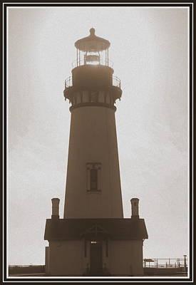Digital Art - Yesterdays Lighthouse by Kathy Sampson