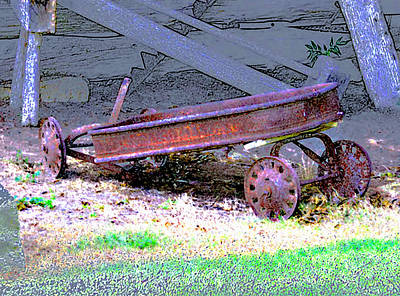 Photograph - Yesterday's Red Wagon by Linda Cox