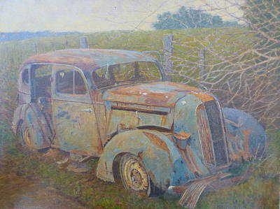 Painting - Yesteryear Catlins 1980s by Terry Perham